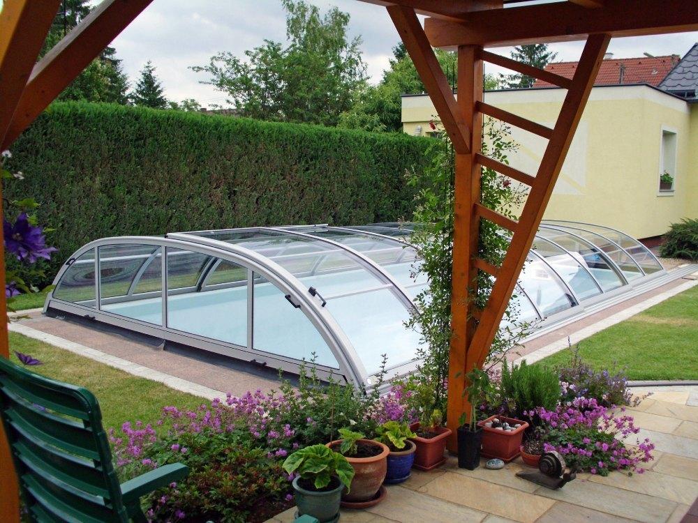 Nízké zastřešení bazénu - model Elegant Neo