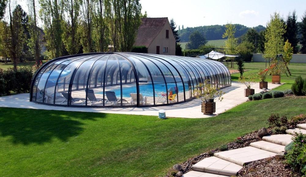 Vysoké zastřešení bazénu - model Olympic