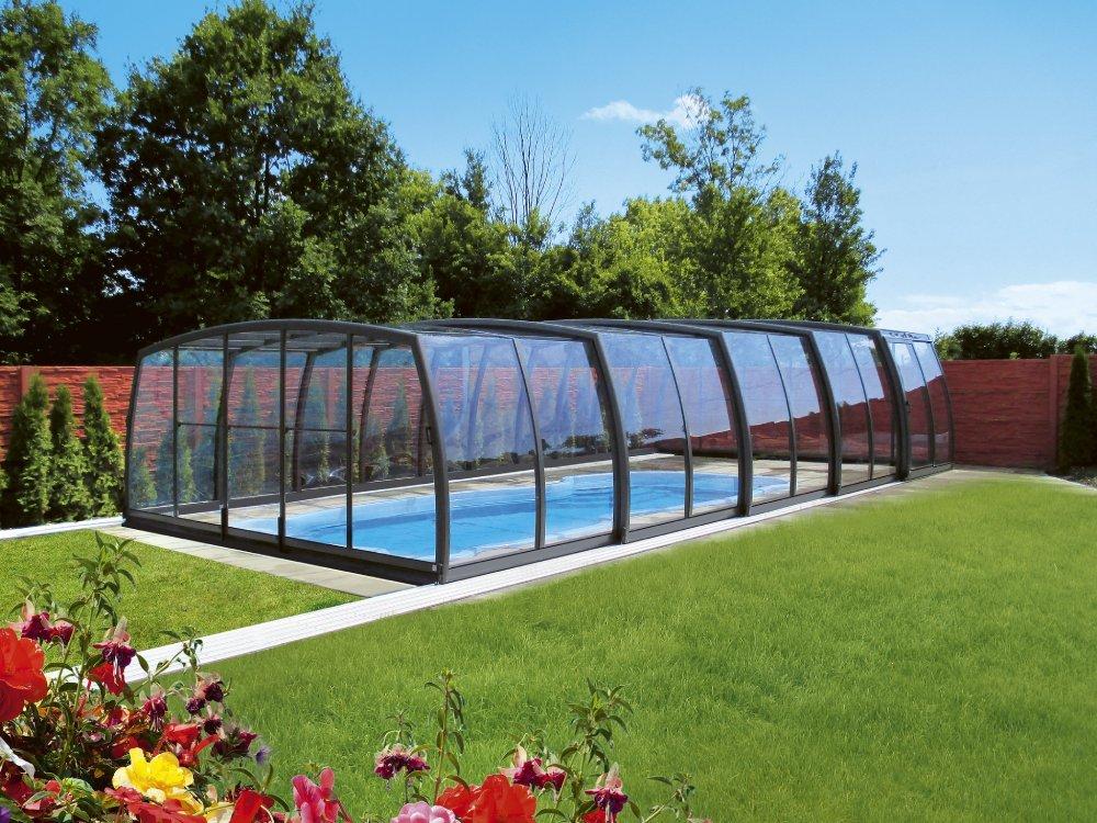 Vysoké zastřešení bazénu - model Omega