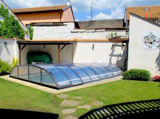 Zastřešení bazénu - model AZURE Flat (13)