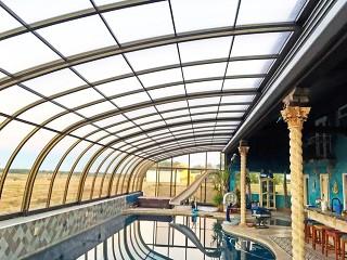 Bazénové zastřešení Style v bronzové barvě