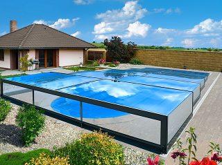 Nízké zastřešení bazénu Champion