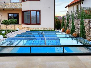 Nízké zastřešení bazénu - model CHAMPION (2)