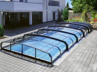 Nízké zastřešení bazénu, model OCEANIC Low