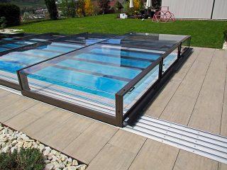 Nízké zastřešení bazénu TERRA