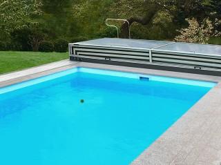 Otevřené posuvné zastřešení bazénu Terra