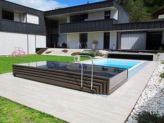 Plně otevřené zastřešení bazénu TERRA