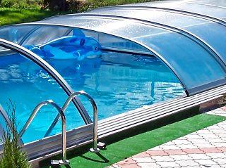 Polootevřené zastřešení bazénu Elegant NEO