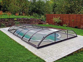 Typové zastřešení bazénu Azure Flat Compact Typ 1