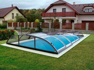 Typové zastřešení bazénu Azure Flat Compact Typ 2