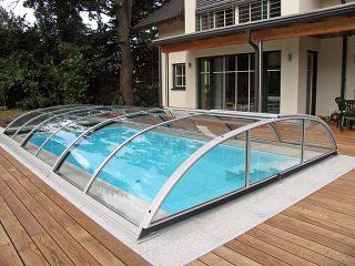 Typové zastřešení bazénu Azure Flat Compact Typ 3