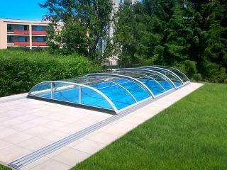 Typové zastřešení bazénu Azure Flat Compact Typ 4