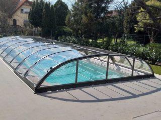 Typové zastřešení bazénu Azure Flat Compact Typ 5