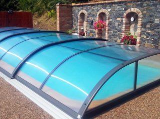 Typové zastřešení bazénu Azure Flat Typ 1
