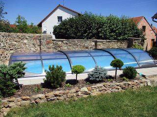 Typové zastřešení bazénu Azure Flat Typ 2