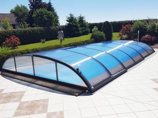 Zastřešení bazénu AZURE Flat Typ 2
