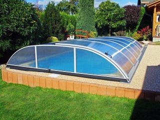 Typové zastřešení bazénu Azure Flat Typ 3