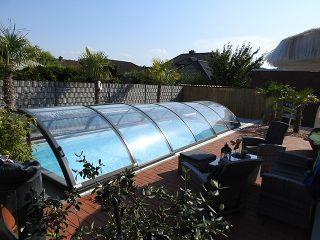 Zastřešení bazénu - model AZURE Compact (8)