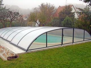 Zastřešení bazénu ELEGANT NEO™ antracit, komůrkový polykarbonát