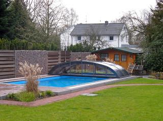 Odsunutý kryt na bazén ELEGANT