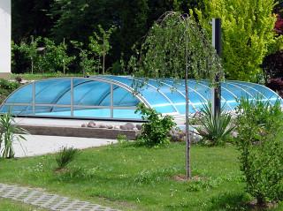 Zastřešení bazénu ELEGANT s bočním vstupem