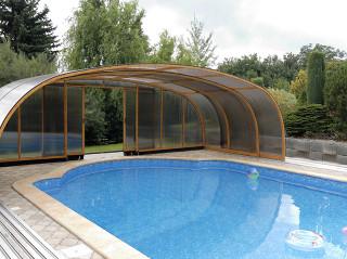 Bazénové zastřešení LAGUNA vhodné i pro veřejné bazény