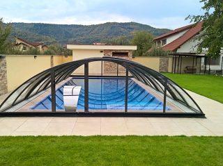 Zastřešení bazénu - model AZURE Compact (2)