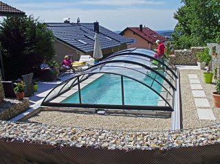 Zastřešení bazénu - model AZURE Compact (3)
