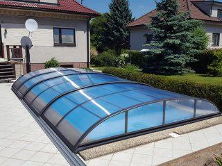 Zastřešení bazénu - model AZURE Flat (8)