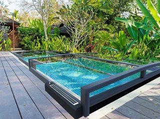 Zastřešení bazénu s automatickým posuvem Terra Prime