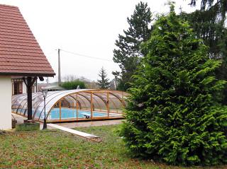 Zastřešení bazénu TROPEA zvyšuje rychlost ohřevu vody ve Vašem bazénu