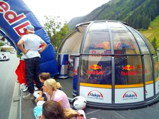 Zastřešení HORECA Spa Dome Orlando v rakouském Ischglu na Red Bull eventu