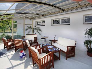 Pohodlí na Vaší terase zajistí zastřešení CORSO Entry