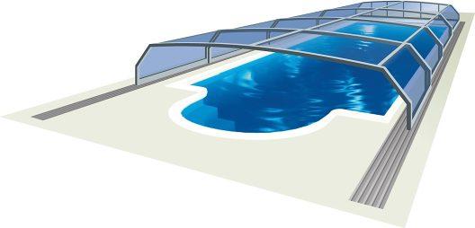 Poolüberdachung Oceanic low