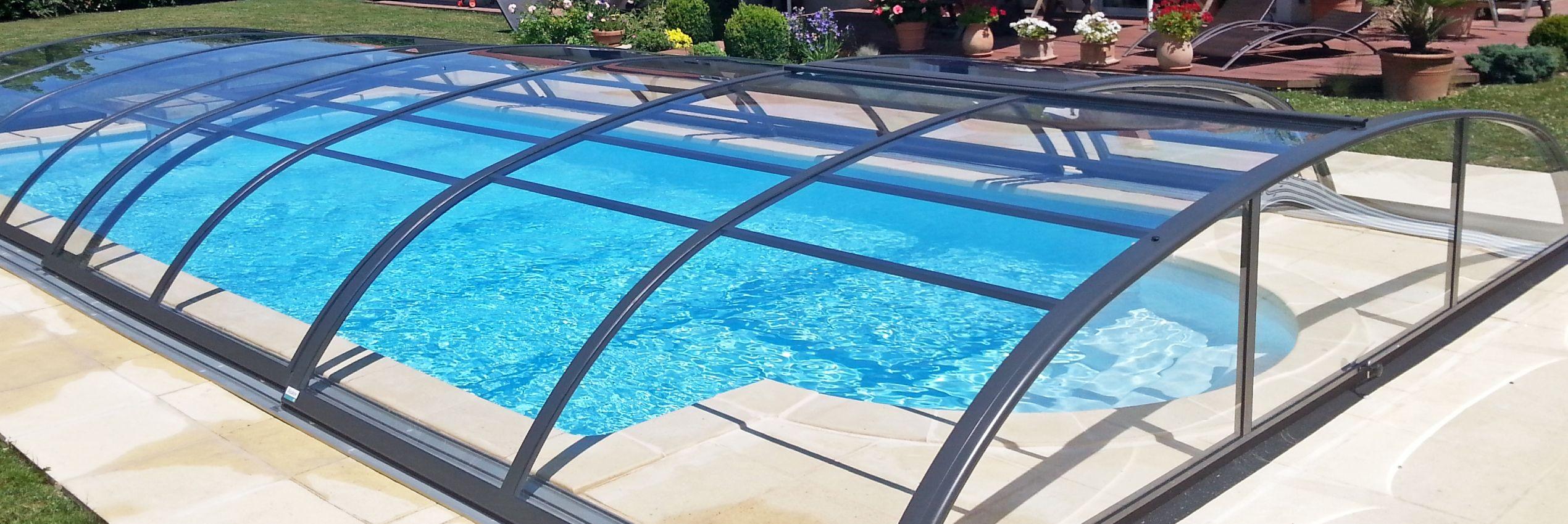 Zastřešení bazénů Azure Flat kompakt