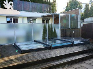 Die niedrigste Schiebeüberdachung für Ihren Pool Terra von Alukov