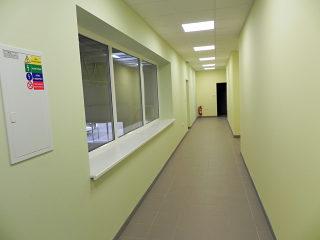 Innenraum im Forschungszentrum bei ALUKOV fertig
