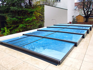 Pool-Überdachung mit niedriger Linie Terra