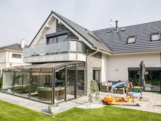 Schiebbare Terrassenüberdachung Corso Premium