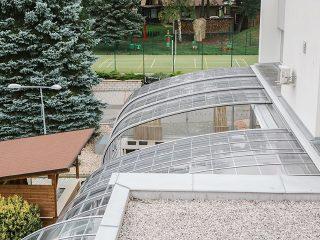 Terrassenüberdachung Horeca- Vogelperspektive.
