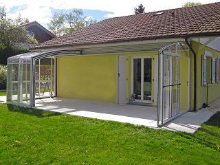 Terrassenüberdachung CORSO Premium von Alukov - weiß farbton
