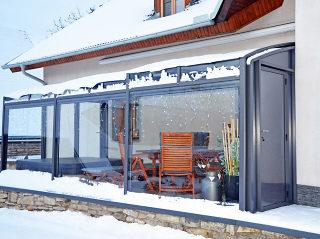 Winter-Terrassenüberdachung CORSO Premium von ALUKOV