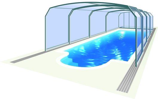 Abri de piscine Oceanic high