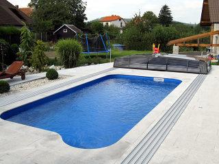 Abri de piscine CORONA - entièrement ouvert