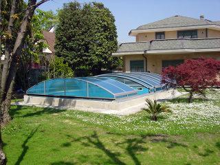 Abri de piscine IMPERIA NEO clair avec cadres en aluminium