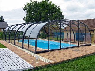 Abri de piscine rétractable LAGUNA - haut