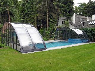 Abri haut pour piscine modèle RAVENA - semi open