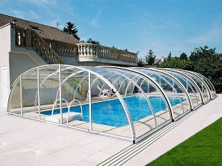 Abri de piscine rétractable TROPEA NEO en blanc
