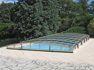 Abri de piscine Viva - système à une glissière