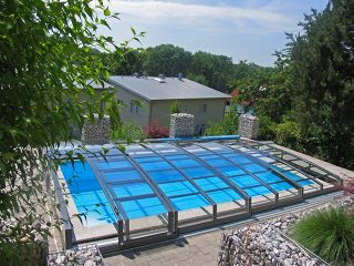 L'abri de piscine Corona - vue den haut